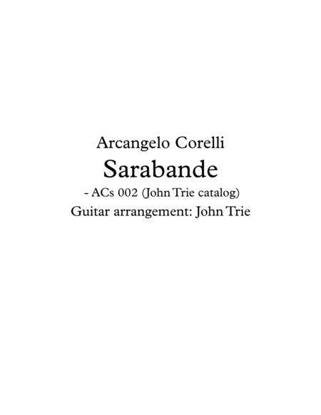 Sarabande - ACs002 tab