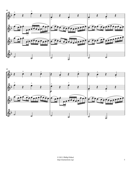 Canon in D (for mixed clarinet quartet)