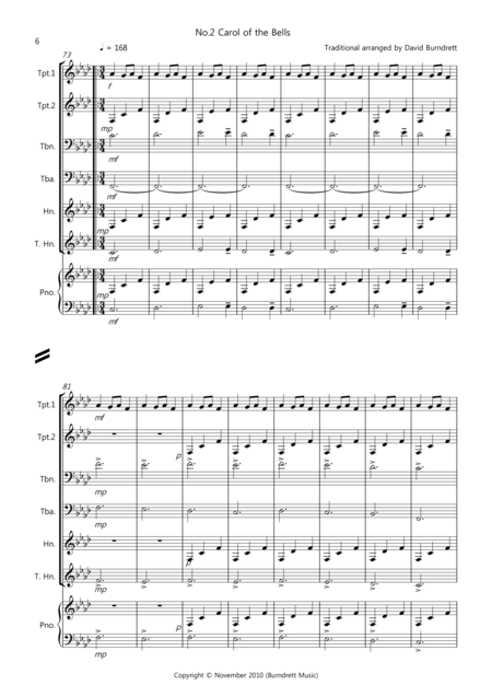 3 Easy Christmas Pieces for Brass Quartet