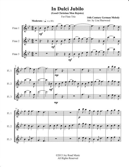 In Dulci Jubilo (Good Christian Men Rejoice) Flute Trio