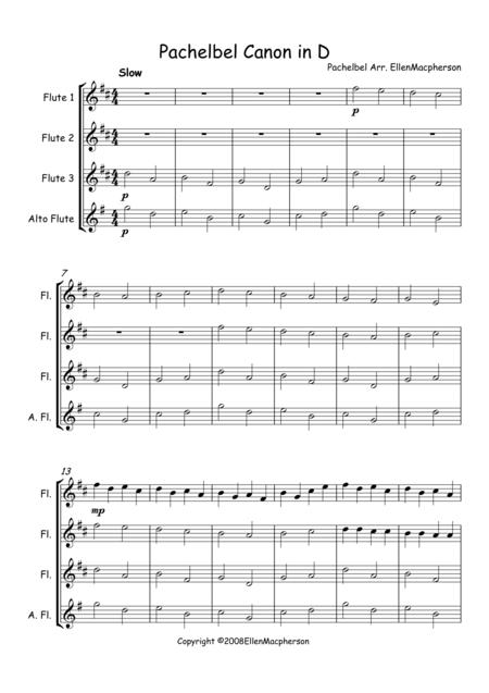 Pachelbel's Cannon in D  - Flute Trio