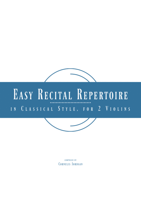 Easy Recital Repertoire In Classical Style - for 2 violins