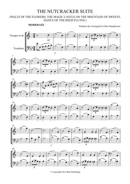 THE NUTCRACKER SUITE - TRUMPET & TROMBONE DUET - (Waltz of the Flowers, The Magic Castle on the Mountain of Sweets, Dance of the Reed Flutes)