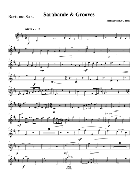 Sarabande and Grooves for Sax Quartet