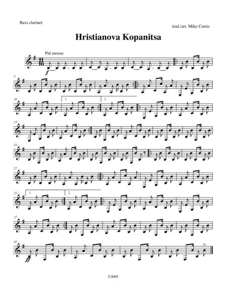 Hristianova Kopanitsa for Clarinet Quartet