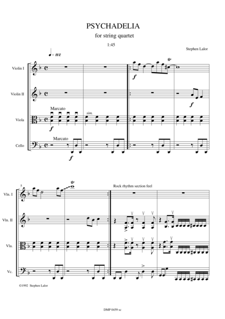 Psychadelia for string quartet - score