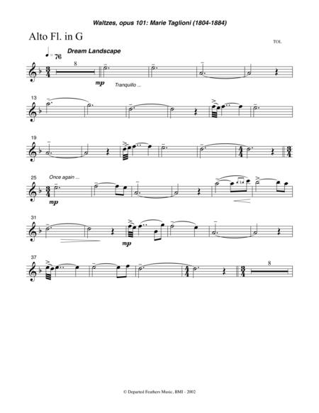 Waltzes, opus 101 (2002) flute part