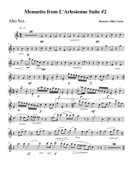 Bizet's Menuetto from L'Arlesienne Suite #2 for WW Trio