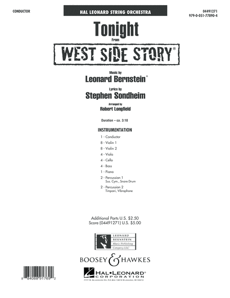 Tonight (from West Side Story) - Conductor Score (Full Score)