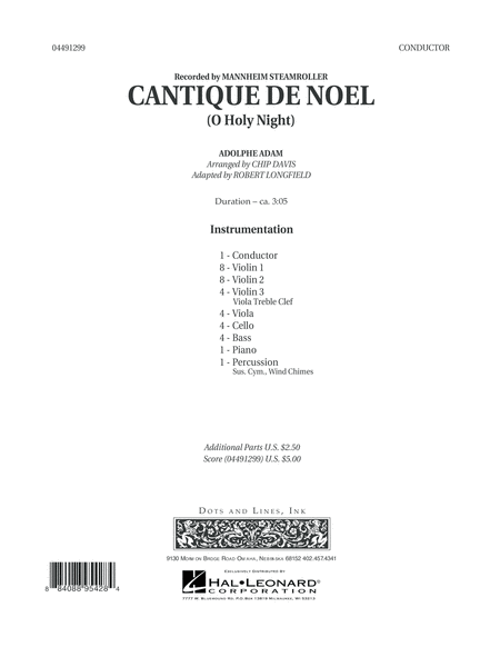 Cantique de Noel (O Holy Night) - Conductor Score (Full Score)