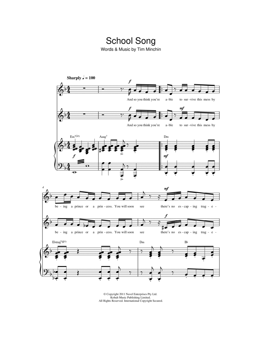 School Song (From 'Matilda The Musical')