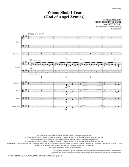 Whom Shall I Fear (God of Angel Armies) - Full Score