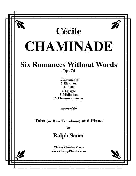 Six Romances Without Words, Op 76 for Tuba or Bass Trombone and Piano