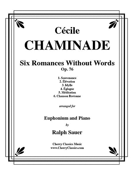 Six Romances Without Words, Op 76 for Euphonium and Piano