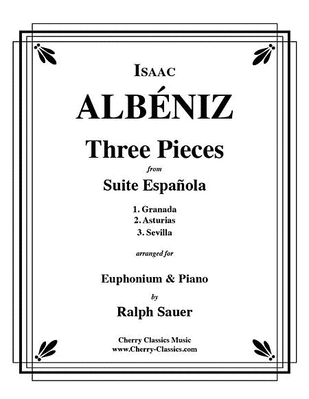 Three Pieces from Suite Espanola for Euphonium and Piano