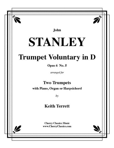 Trumpet Voluntary Op. 6, No 5 for Two Trumpets and Piano or Organ