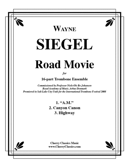 Road Movie for 16-part Trombone Ensemble