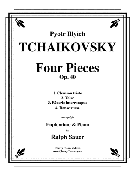 Four Pieces Op. 40 for Euphonium and Piano