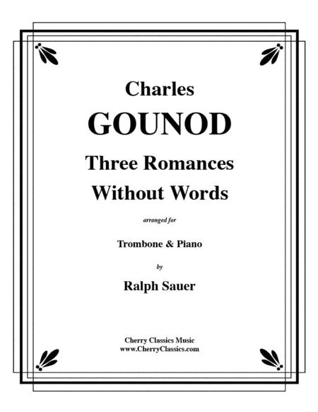 Three Romances Without Words for Trombone & Piano