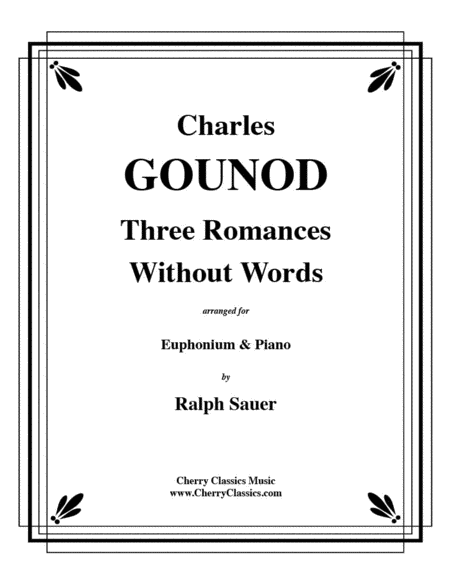 Three Romances Without Words for Euphonium & Piano