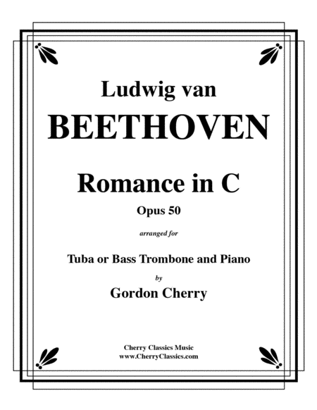Romance No. 2 in C Opus 50 for Tuba or Bass Trombone & Piano