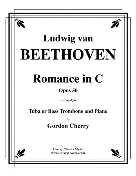 Romance No. 2 in C Opus 50 for Tuba or Bass Trombone & Piano