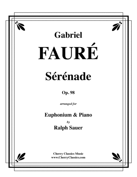 Serenade, Op. 98 for Euphonium & Piano