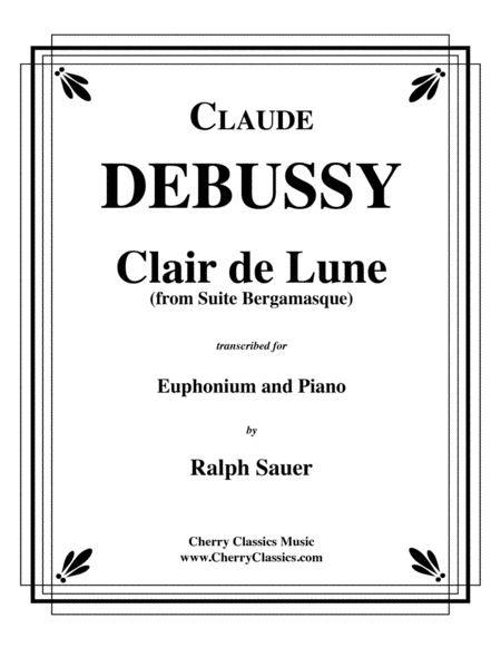 Clair de Lune for Euphonium & Piano
