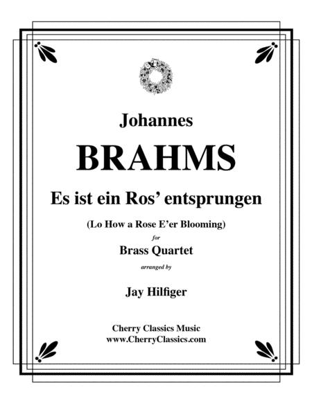 Es ist ein Ros' entsprungen for Brass Quartet