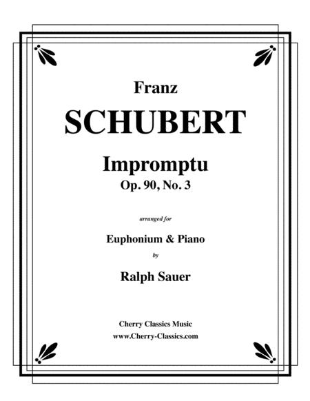 Impromptu, Opus 90, No. 3 for Euphonium & Piano