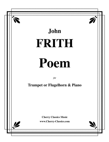 Poem for Trumpet or Flugelhorn & Piano