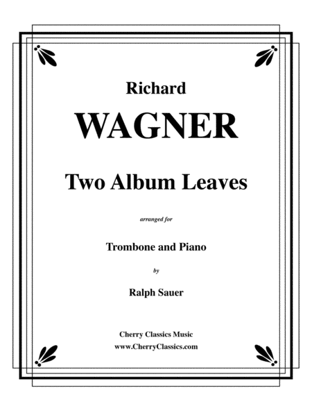 Two Album Leaves for Trombone & Piano