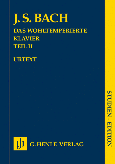 Well-tempered Clavier Bwv 870-893 Part Ii Study Score (das Wohltemperierte) No Fingerin