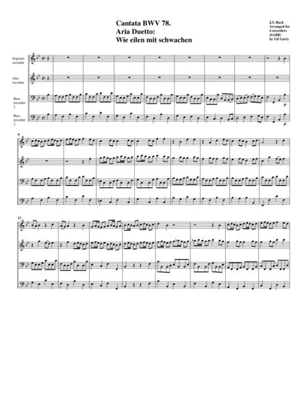 Wie eilen mit schwachen from cantata BWV 78