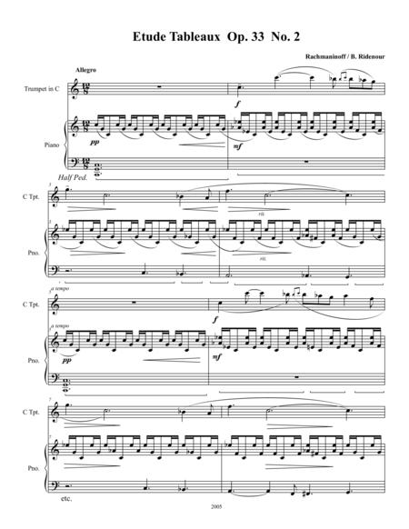 Etude Tableaux Op. 33 No. 2