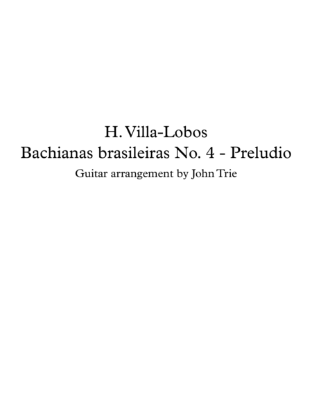 Bachianas brasileiras No 4 - Preludio - tab