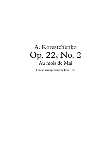 Opus 22, No. 2 - Au mois de Mai - tab