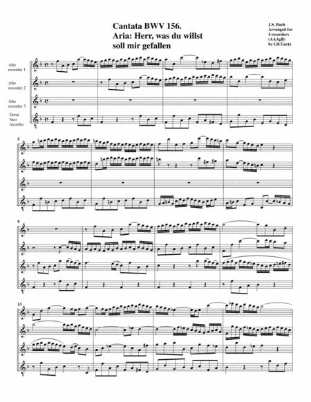 Herr, was du willst soll mir gefallen from cantata BWV 156