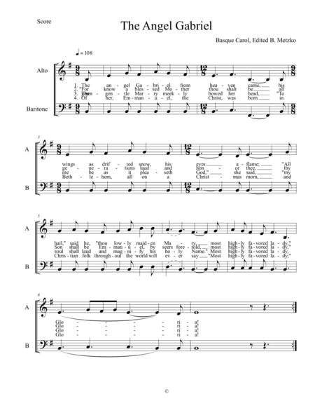 The Angel Gabriel (a capella vocal duet)