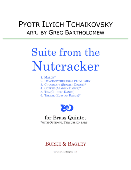 Suite from the Nutcracker for Brass Quintet
