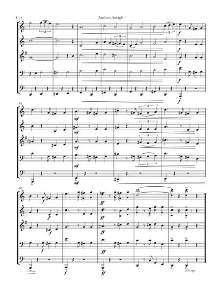 Anchors Aweigh for brass quintet
