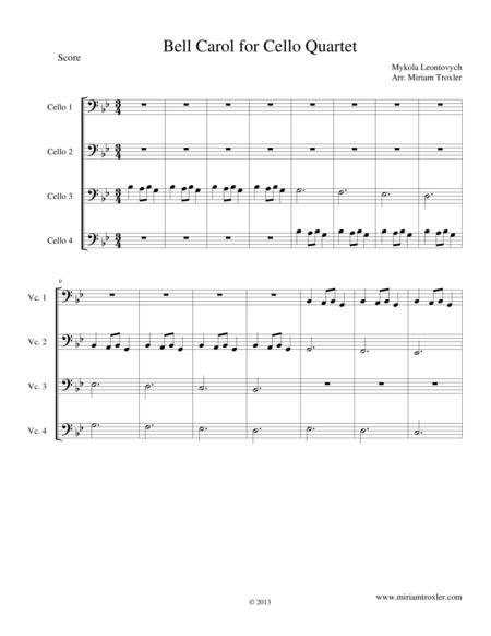 Bell Carol for Cello Quartet