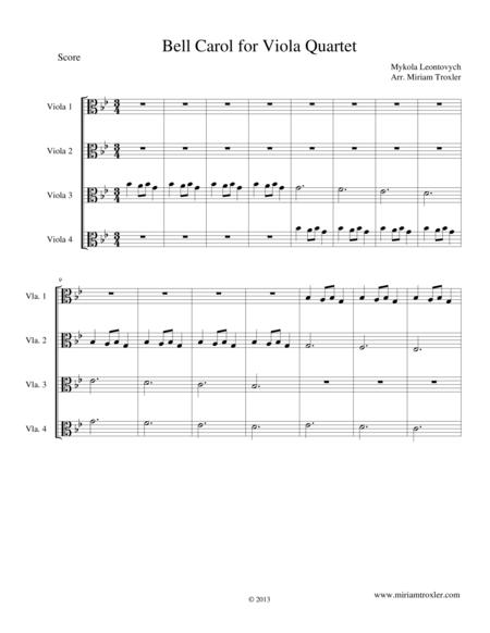 Bell Carol for Viola Quartet