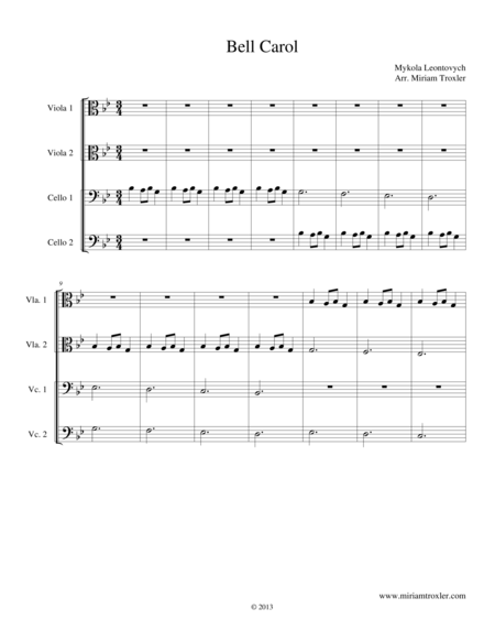 Bell Carol for Viola and Cello