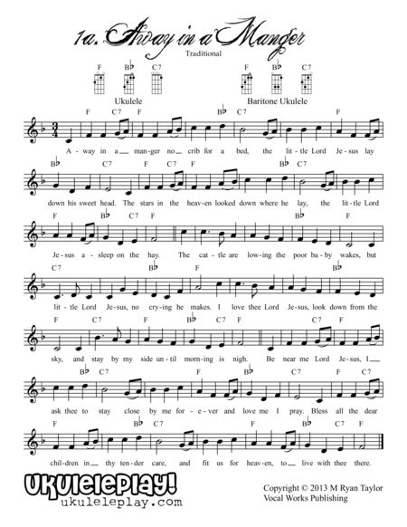 Christmas on 34th Street : 34 songs, 3-4 chords each, multiple keys for standard and baritone ukulele