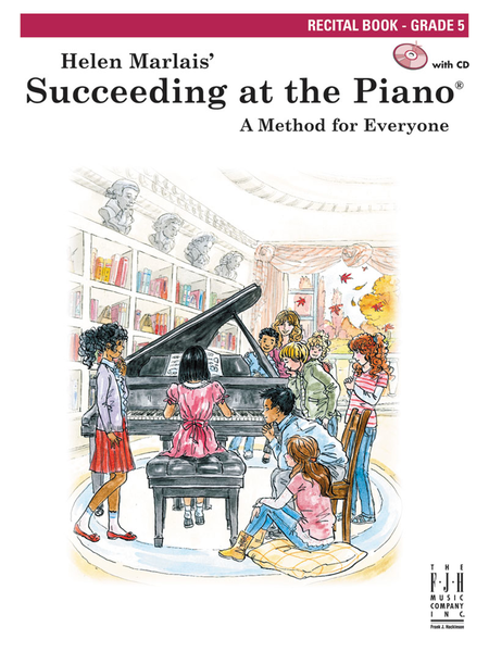 Succeeding at the Piano Recital Book, Grade 5 (w/CD)
