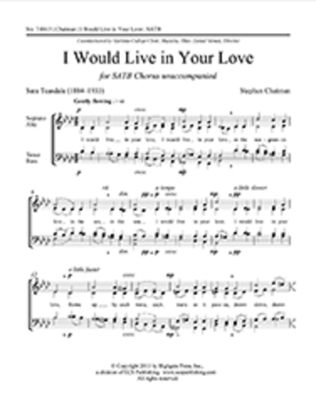 I Would Live in Your Love