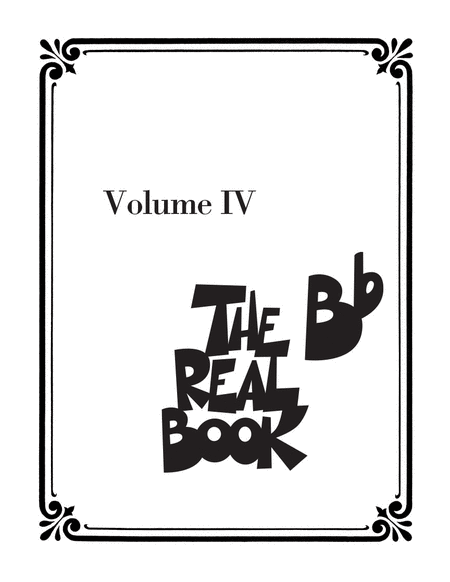 The Real Book - Volume IV
