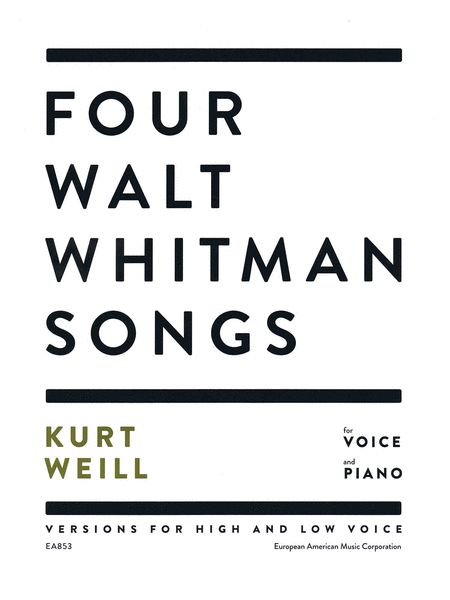 Four Walt Whitman Songs