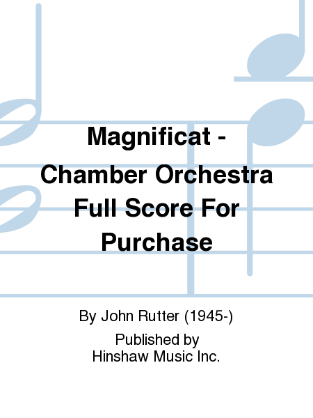Magnificat - Chamber Orchestra Full Score For Purchase